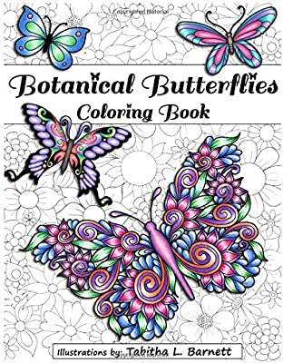 Amazon Com Botanical Butterflies Coloring Book 58 Beautiful