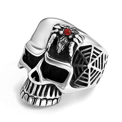 Amazon.com: lilileo joyería acero de titanio creativo araña ...