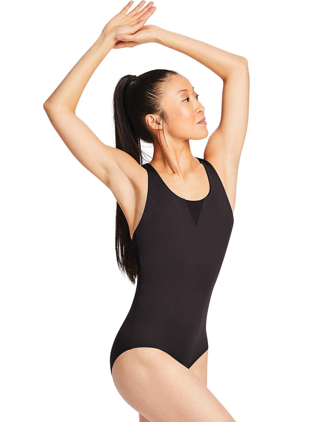Capezio Tech Strap Back Camisole Leotard - Size Medium, Noir by Capezio