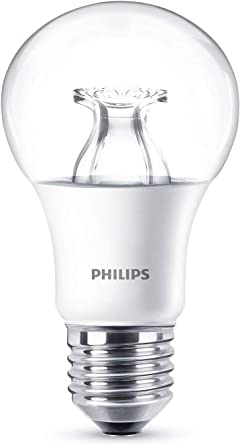 Philips LED Warm Glow E27 Edison Screw Dimmable Light Bulb, 8.5 W (60 W) Warm White