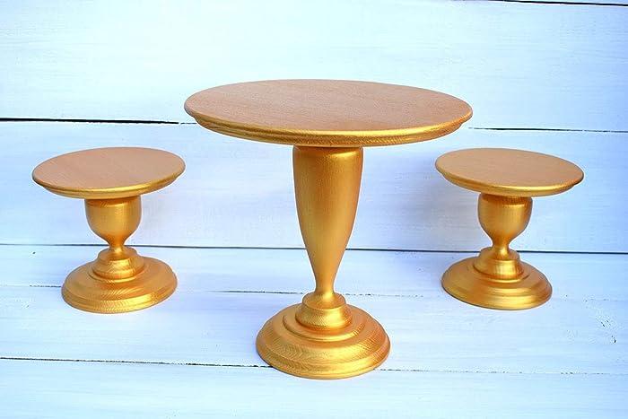 Golden Wedding Centerpieces.Amazon Com Set 3 Golden Cake Stands Gold Wedding