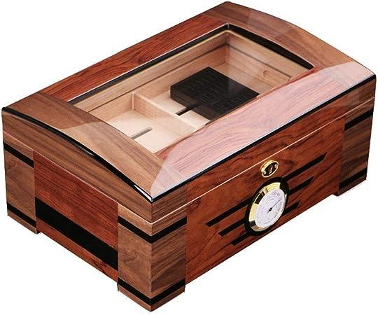 Cajas y dispensadores Accesorios de Cigarrillos Madera con Doble Caja de cigarros de Mantenimiento alcoholizado Gran Capacidad de cigarros Puros Mueble humidor de Cedro Puede Contener 100: Amazon.es: Hogar