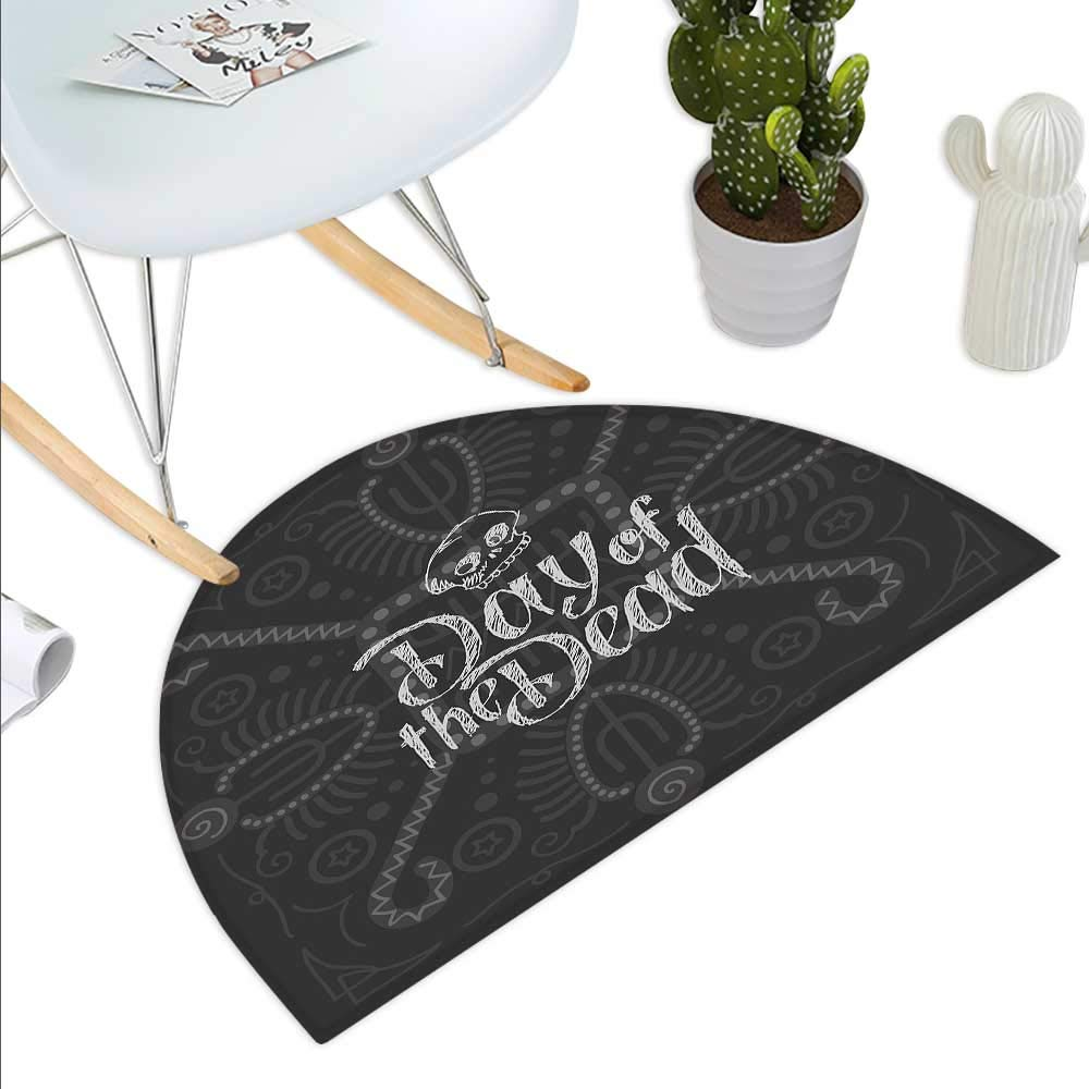 color14 H 15.7  xD 23.6  David Semicircle Doormat Hand Drawn Lettering Design with Traditional Male Name on Dotted Background Halfmoon doormats H 27.5  xD 41.3  Dark bluee Mustard