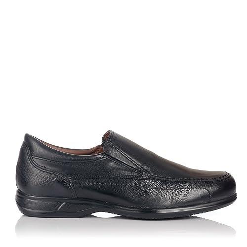 BAERCHI 1965 Mocasin Noruego Ancho Hombre Negro 40: Amazon.es: Zapatos y complementos