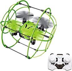 ToyPark RC Drone, 2.4GHz6 Axis Gyro Wall Climbing Remote Controlled Quadcopter with Protective Frame,3D Flips and One Key Return Functions (Wall Climbing Drone)
