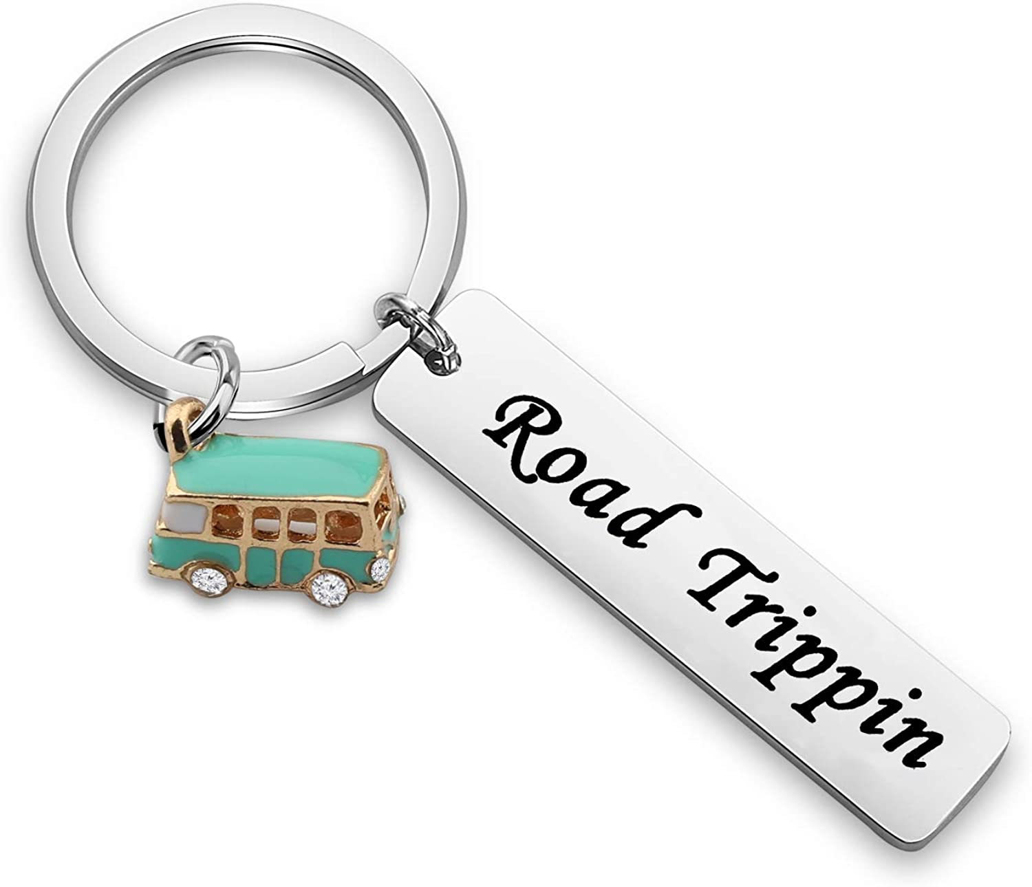 WUSUANED Camping Lovers Gift Home is Where You Park It Happy Shitters Full Keychain RV Keychain Camper Gift