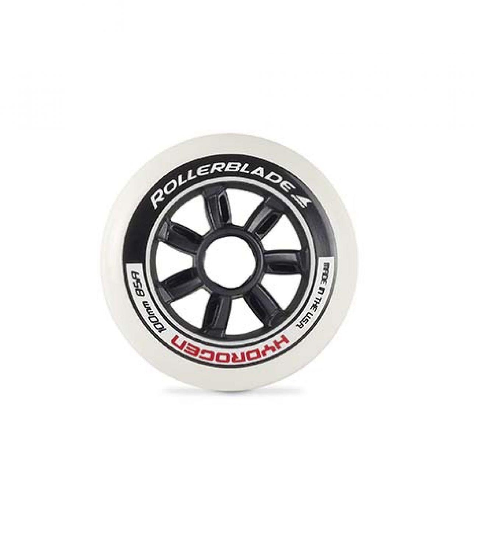 Rollerblade Hydrogen 100mm 85A Wheels Black 100 mm & Headband Bundle
