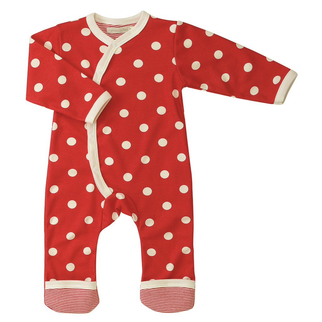 Pigeon Organics for kids silhuoette Long, Birds Design Polka Dot Red – 12-18 Months Pigeon-organics for kids OFK-ROL SPORED 12-18M