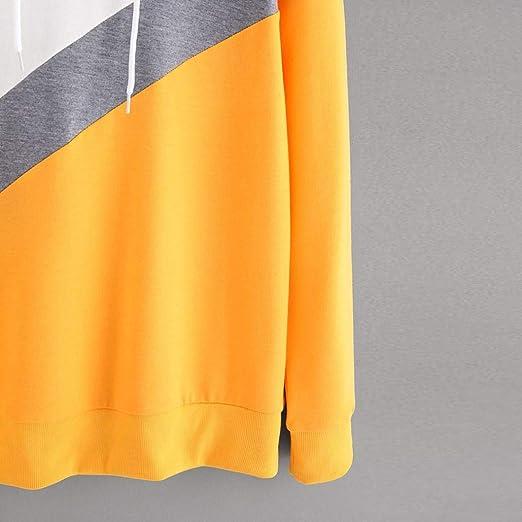 MEIbax Mujeres Camisa de Manga Larga Sudadera con Capucha Blusa de Jersey Tops: Amazon.es: Ropa y accesorios