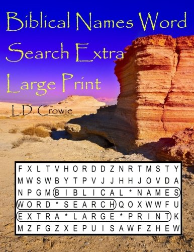 Read Online Biblical Names Word Search Extra Large Print ebook