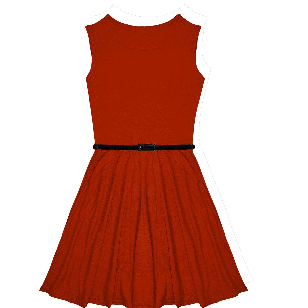 02f78acd8325 Amazon.com  Miss Vanilla New Girls Plain Skater Dress Kids Party ...