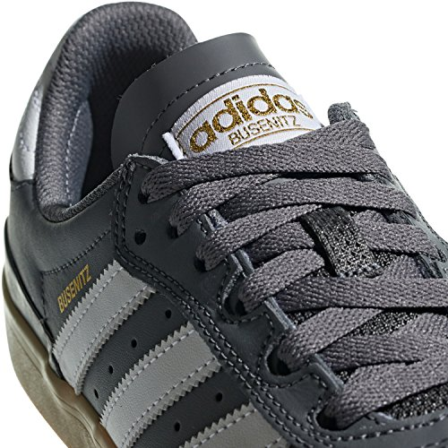 Adidas Mens Busenitz Vulc Rx Scarpa Da Skate Grigio Quattro / Calzature Bianco / Gum4