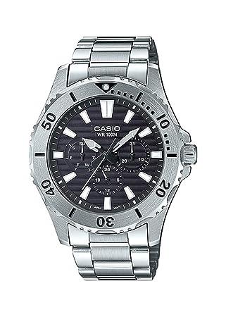 Casio MTD1086D-1AV Reloj Deportivo multifunción de Acero Inoxidable con Esfera Negra de 100 m para Hombre: Amazon.es: Juguetes y juegos