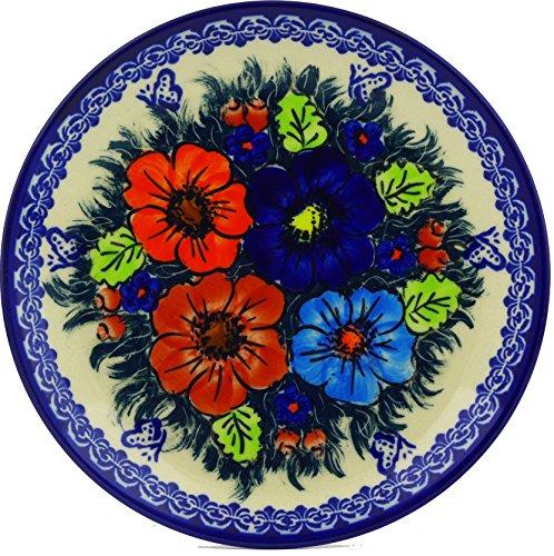 Pottery Dessert (Polish Pottery Dessert Plate 7-inch Butterfly Splendor UNIKAT)