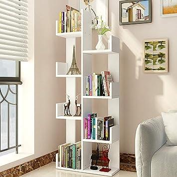 Amazon.com: ZR- Modern Bookshelves Wooden Tree Shaped ...