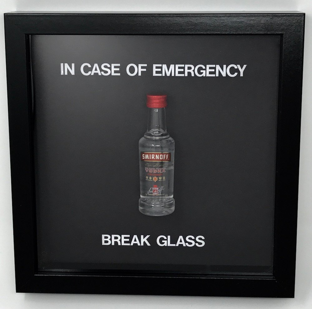 In Case Of Emergency Break Glass Novelty Gift Blank To Fill As