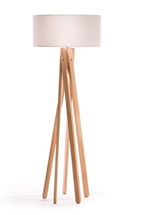 Haute Qualite Design Lampadaire Trepied Avec Abat Jour En Tissu En