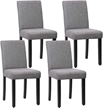 Amazon Com Dining Chairs Dining Room Chairs Parsons Chair Kitchen Chairs Set Of 4 For Home Kitchen Living Room Grey Chairs