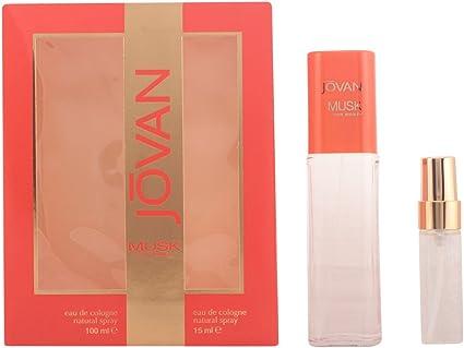 Jovan Musk Agua de Colonia Woman 100 ml + Natural Spray 15 ml - 1 Pack: Amazon.es: Belleza
