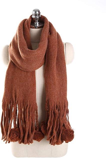 AiNaMei Sra. Otoño e invierno bufanda de cachemira de imitación pura bufanda caliente
