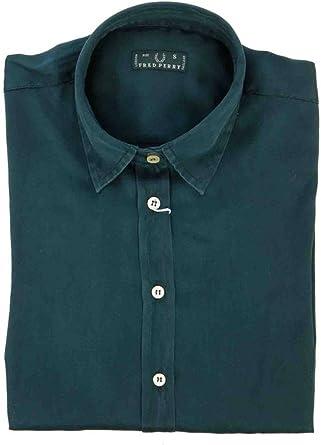 Fred perry camisa con las mangas largas mujer azul: Amazon.es ...