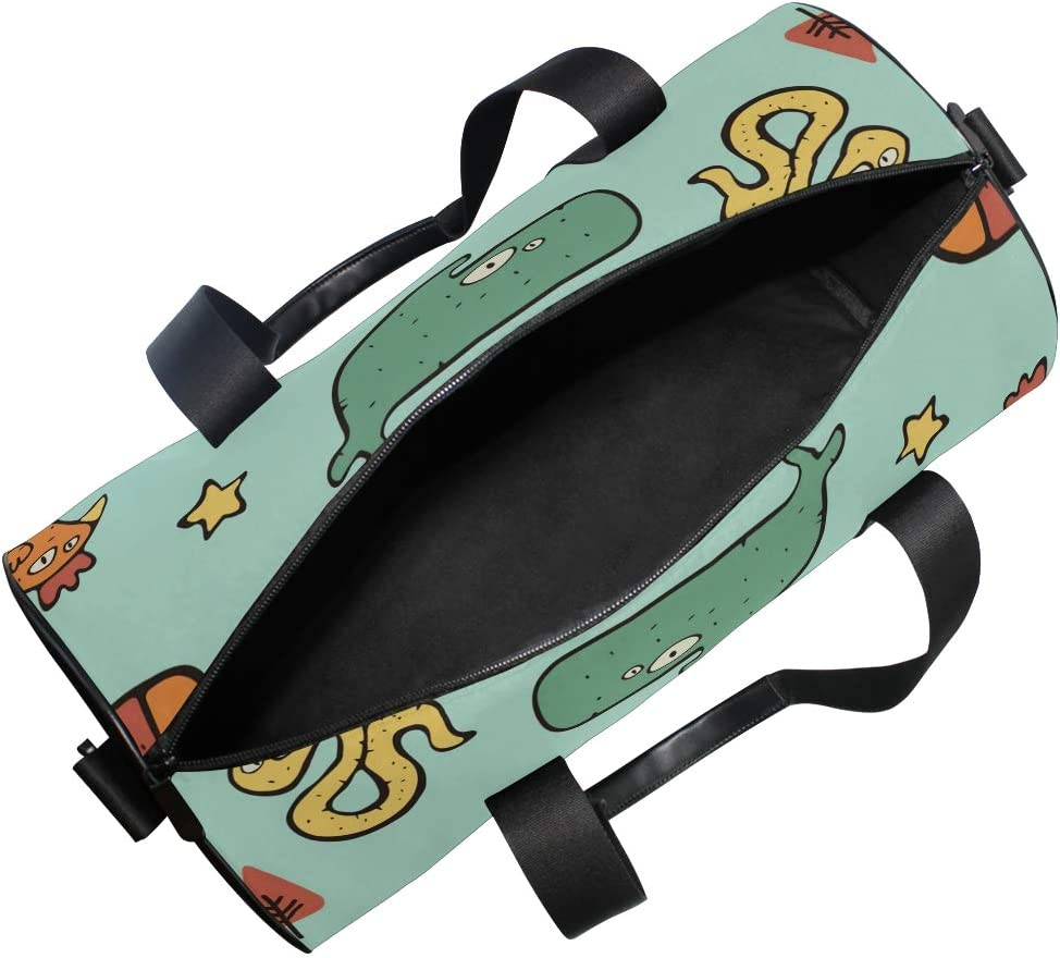 MALPLENA Different Eye Animals Drum gym duffel bag women Travel Bag