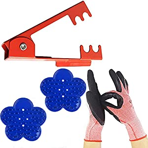 LuFOX 4PCS Rose Stripper Thorn Remover Tool Kit Thorn and Leaf Stripping Tool & Garden Glove