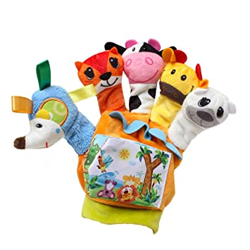 Amazon.com: Erlou Education Toys - Guantes de peluche para ...