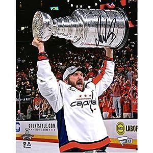 "Alex Ovechkin Washington Capitals 2018 Stanley Cup Champions Autographed 8"" x 10"" Raising Cup Photograph Fanatics Authentic Certified"