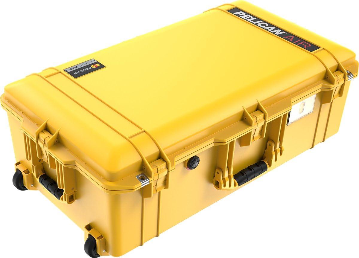 Pelican Yellow 1615 case Empty Wheels. No Foam
