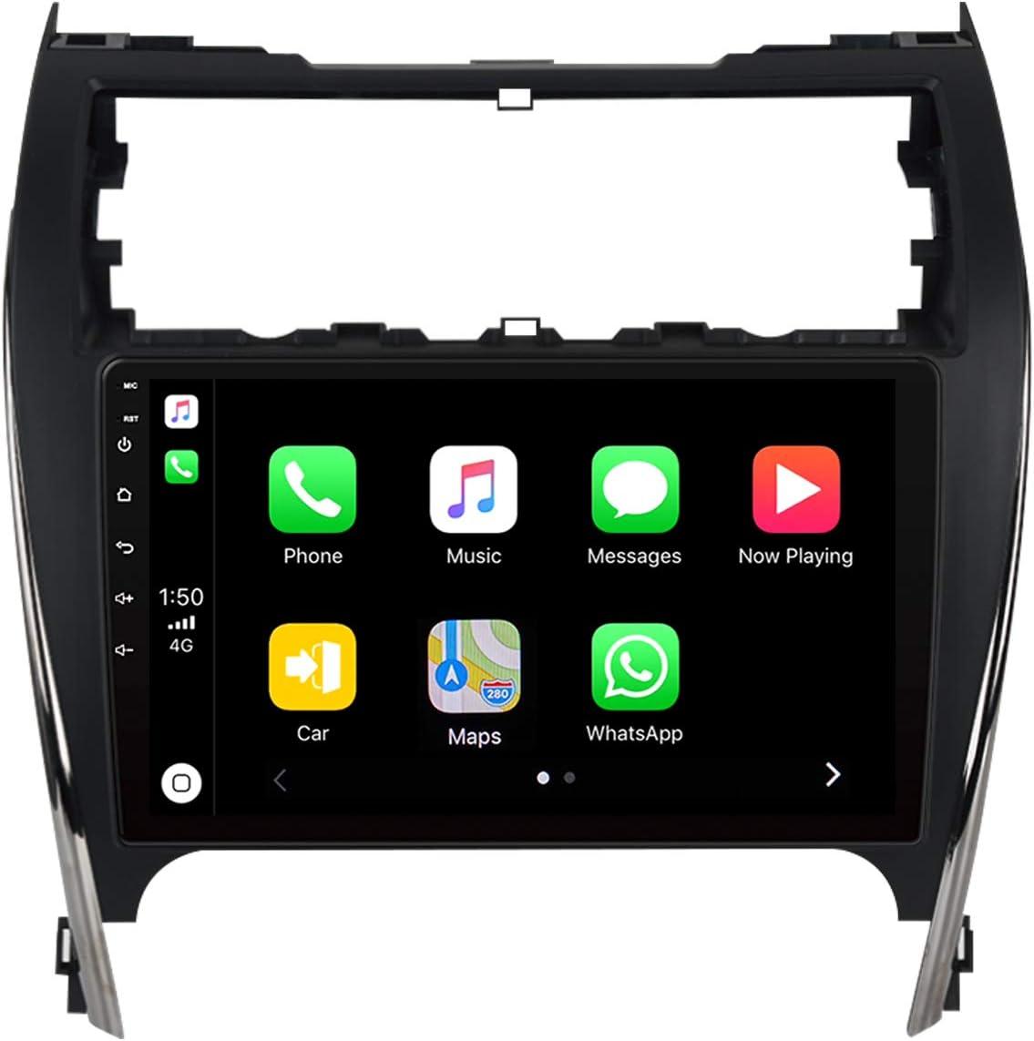 "ViaBecs 10.2"" Andorid 10.0 Car Radio with Bluetooth 5.0 for Toyota Camry 2012 2013 2014 4GB/64GB Head Unit Car Stereo with Apple Carplay Wireless 1280 x 720 GPS Navigation WiFi FM/AM"