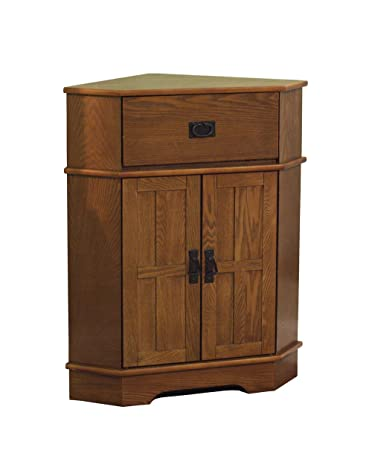 Amazon.com: TMS Mission Corner Cabinet: Kitchen & Dining