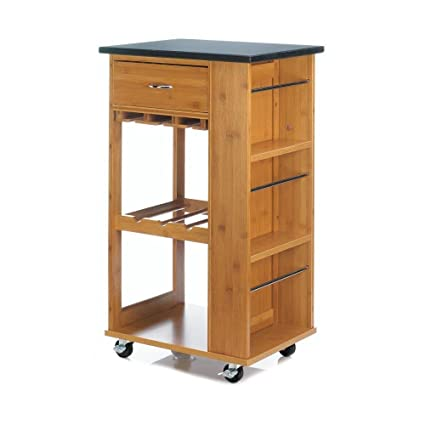 Amazon.com: Accent Plus Modern Kitchen Cart, Marble-top ...