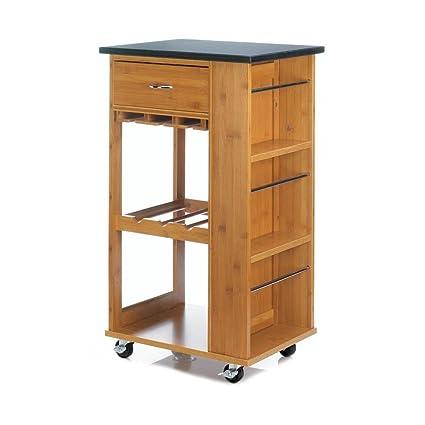 Amazon Com Accent Plus Modern Kitchen Cart Marble Top
