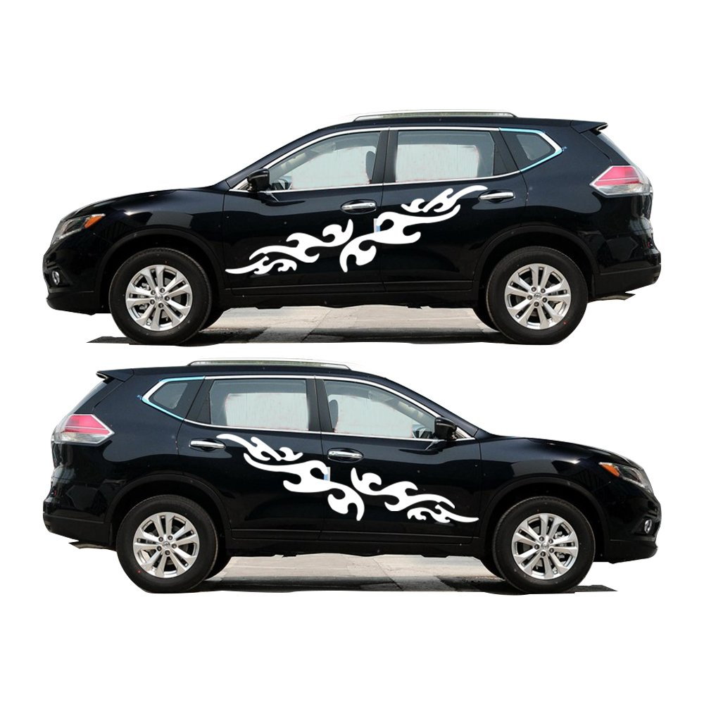 Amazon com for nissan x trail decorative pattern interesting pvc car sticker personality car styling car body decal 2pcs per set white automotive