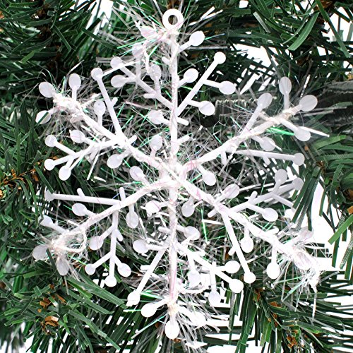Tronzo Christmas Tree Decorations Snowflakes 30pcs 6cm White Plastic Artificial Snow Christmas Decorations for Home Navidad