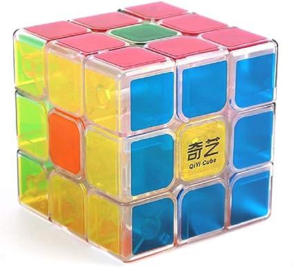 D ETERNAL QiYi Jelly Edition Sail 6 cm Rubiks Rubix Cube 3x3x3 High Speed Transparent Cube Puzzle