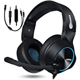 NUBWO Gaming Headset for Xbox One PS4 PC Gaming and Nintendo Switch,Stereo Surround Noise Cancelling Over Ear Gaming…