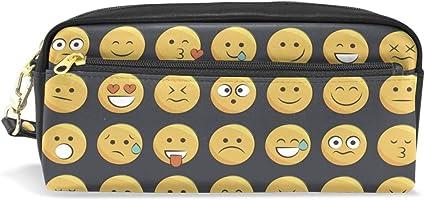 Estuche, diseño duradero Lápiz bolsa bolsa de maquillaje con gran capacidad Emoji de los estudiantes: Amazon.es: Oficina y papelería