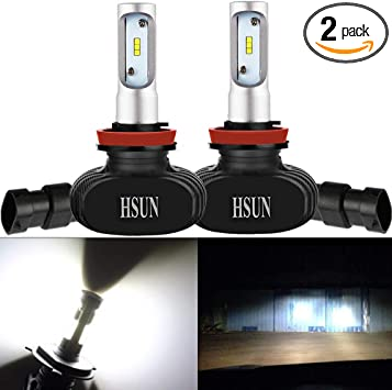 2x 9006 HB4  LED Headlight Bulbs Replace PHILIPS CSP 8000LM 50W 6500K for GMC