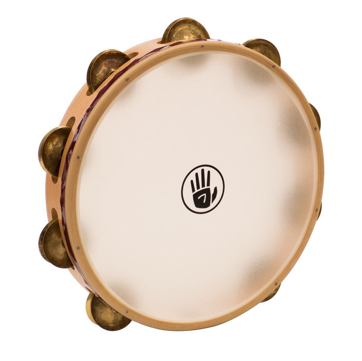 "S3 Seriesâ""¢ Tambourine Single row 10'' - Aged Brass,"