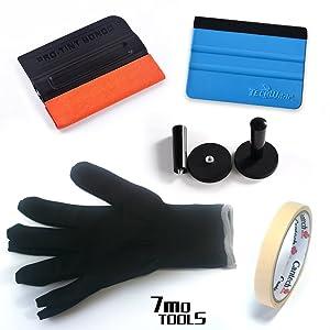 7MO Auto Vinyl Film Wrap Tools for Car Wrap Vinyl Application 1 Set
