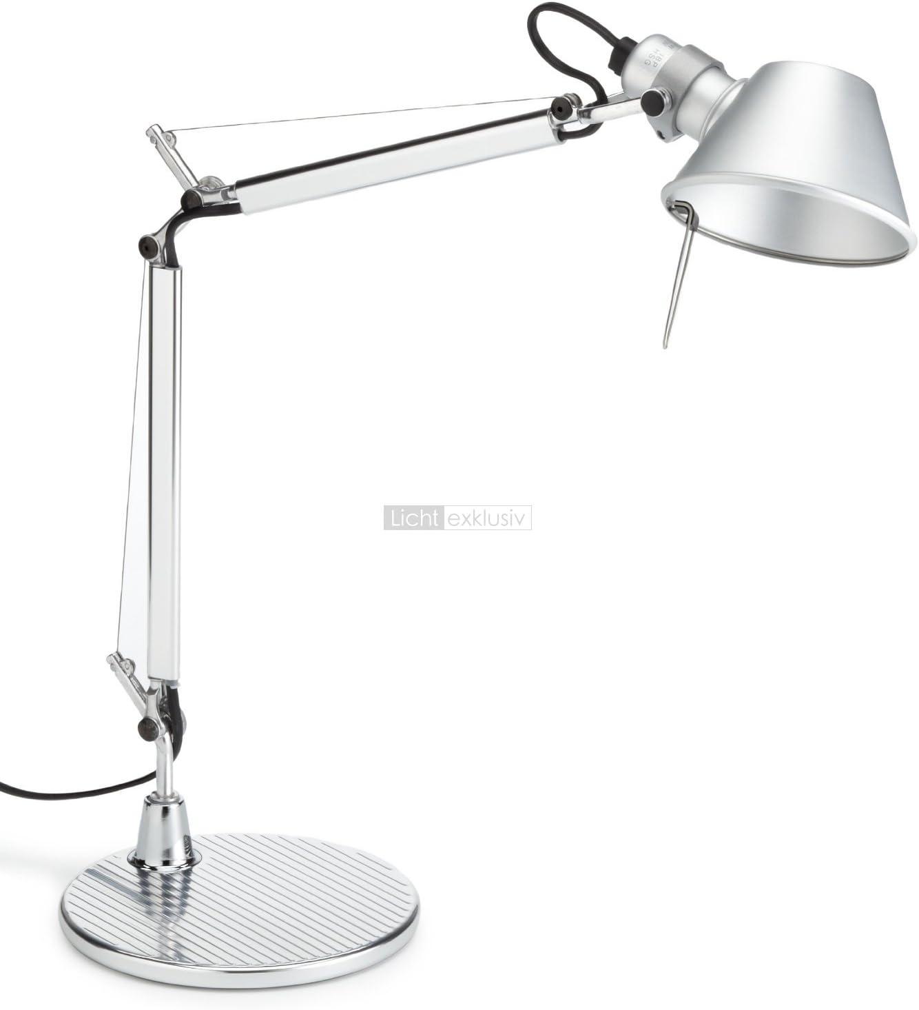 Artemide Tolomeo Micro Lampara Led De Escritorio Aluminio Acero Con Regulador De Intensidad Con Pie Para Escritorio Amazon It Illuminazione