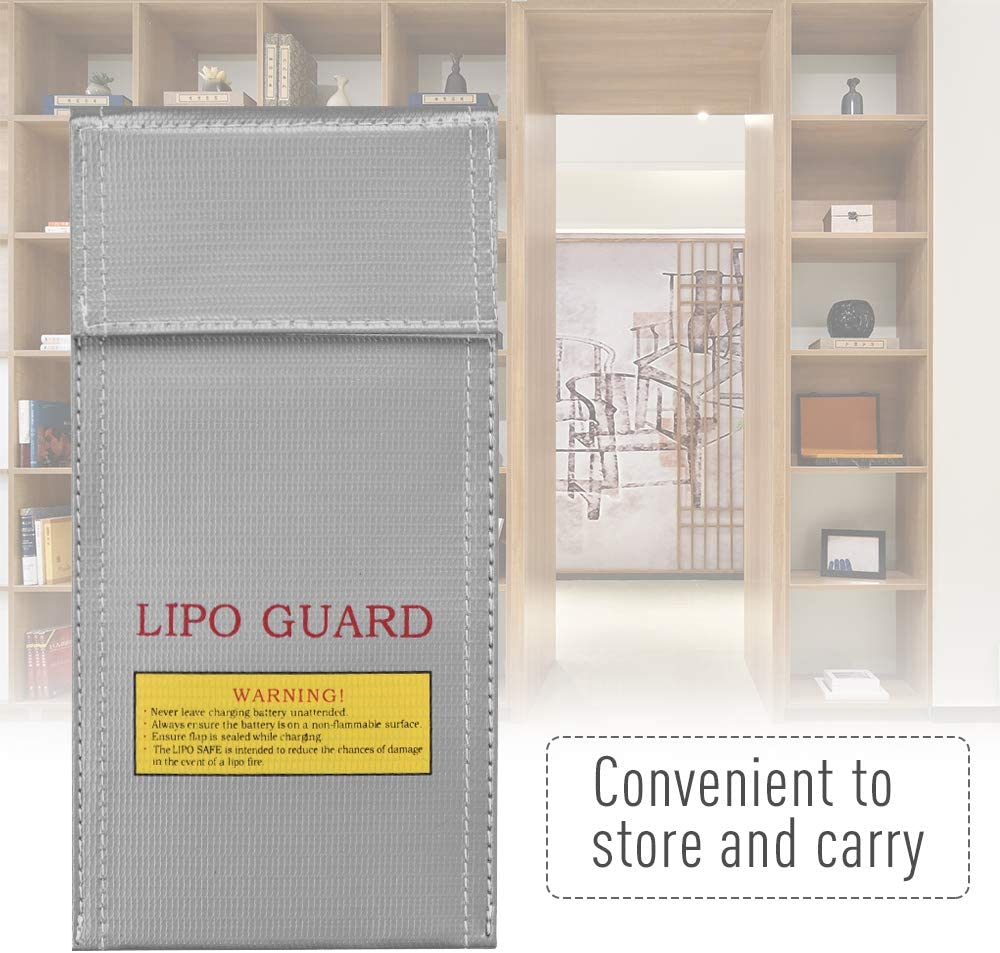 Deofficially Lipo Safe Bag Fireproof Explosion-Proof Battery Guard Bag Pouch for Charge /& Storage High Temperature Resistant