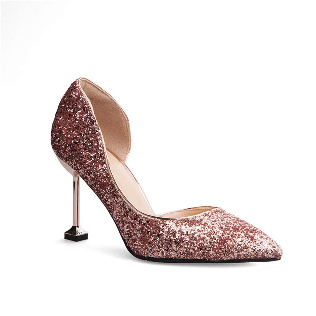 Drew Toby Women Pumps Crystal Wedding Banquet Pointed Toe Shallow Mouth Fashion High Heels