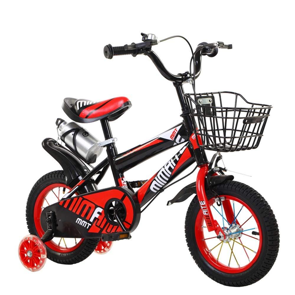 bajo precio rojo 12in 12in 12in Axdwfd Infantiles Bicicletas Bicicleta for niños con Ruedas de Entrenamiento de Boy´s Girl, 12 14 16 18  con estabilizadores, Botella de Agua y Soporte.  precios mas bajos