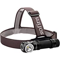 Sofirn Led Headlamp, Rechargeable Super Bright Outdoor Head Lamp Flashlight, CREE XP-L Led 1200 Lumens, Best for Running, Hunting, Camping, Caving (Battery Excluded)