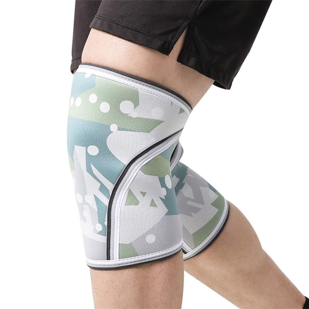 HUIFEI 7mm Camouflage Sport Knieschützer Gummi Material Erwachsene Hocke Fitness Outdoor Sport Knieschützer