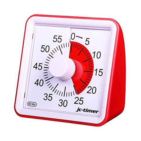amazon com aimilar 60 minute visual timer silent timer time