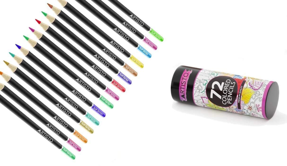 Artisto 72 Colored Pencils, Soft Core, Art Coloring Drawing Pencils for Adult Coloring Book, Sketch,Crafting Projects by Artisto (Image #6)